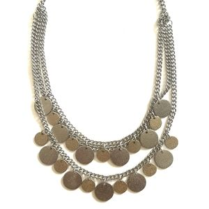 Coin Drop Statement Necklace
